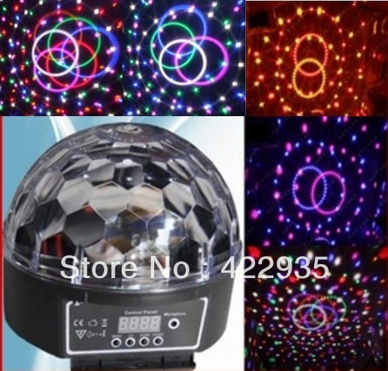 Led6*3W Channel DMX512 Control Digital LED RGB Crystal Magic Ball Effect Light DMX Disco DJ Stage Lighting Free