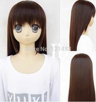 free shipping>>>HOT~IB dark brown long Cosplay Party Fashion Wig