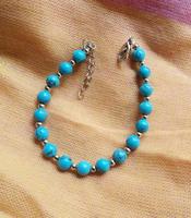 (Min order $10) National trend unique accessories tibetan miao silver turquoise miao silver bracelet sl018