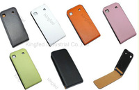 100 pcs/lot  Flip Style Genuine Leather Skin Case Cover for  Samsung Galaxy S I9000 Galaxy S Plus I9001