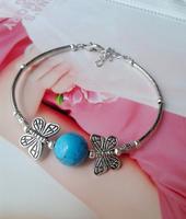 (Min order $10) National trend accessories unique jewelry vintage tibetan jewelry tibetan silver butterfly bracelet sl226