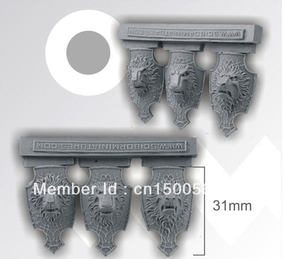 scibor Warhammer Accessories Large Lion Shields Lion Shield * 6 [resin](China (Mainland))
