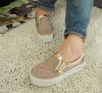 2013 rhinestone gauze cutout platform shoes single shoes women's shoes casual shoes platform gauze breathable shoes