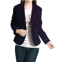 2013 women's spring velvet blazer women's blazer elegant slim coat