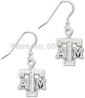 Texas A&M Aggies sports charm earrings,5 pairs a lot,free shipping