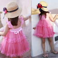 2013 summer female child  princess dress 100% cotton 2 -9