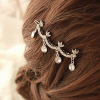 35 oh0015 hair accessory full rhinestone crystal side-knotted clip hairpin clip folder 9g