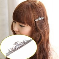 Bling hair accessory hair accessory clip zircon sparkling  rhinestone side-knotted clip hairpin accessories female