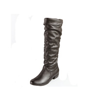 2013 autumn and winter thermal high-leg boots snow boots low-heeled boots pointed toe boots plus size