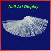 J35 Free Shipping Nail Art Display Practice Fan-shaped Polish False Tips