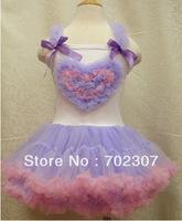 new style girls heart shaped pattern tutu dress baby beautiful dress 5pcs/lot  QK02