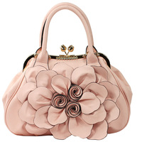 CITY GIRL FREE SHIPPING 2013 women's flower handbag portable women's bags casual women's bag female sweet fashion handbags