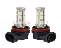 2 X White 18 SMD LED 5050 H11 Socket Car Fog Lights Driving Light Lamp Bulb for Ford Toyota Audi Honda Porsche Xenon