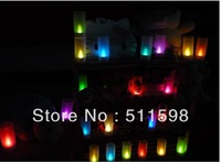 Free Shipping smokeless flameless colorful flickering voice contrl electornic candle,sonic LED lamp night light for festival!