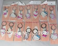 hello kitty key chains different designs fashion keychain 10pcs/lots