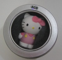 Gift for child, Kitty, cartoon style, red,purple,pink,blue, 16G USB2.0 Flash Drive, U Disk, with package,Free shipping