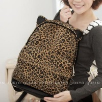 2013 fashion bag leopard print vintage backpack student school bag travel bag
