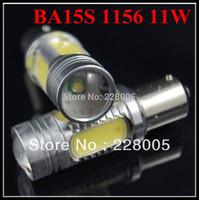 CREE LED 11W Projector bulb 1156 BA15s P21W No Error Reverse Backup Light bulbs 2pcs/lot Free shipping Wholesale#H06681