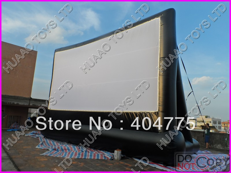 commercial quality PVC inflatable movie screen+free CE blower+free carry bag+free shipping(China (Mainland))