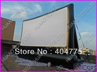 commercial quality PVC inflatable movie screen+free CE blower+free carry bag+free shipping