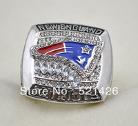 2011 New England Patriots AFC championship ring,rhodium plated,free shipping
