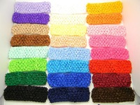 "24 PCS 1.5"" crochet headbands baby girl Infants Toddlers Big Girls hair bow Lot"
