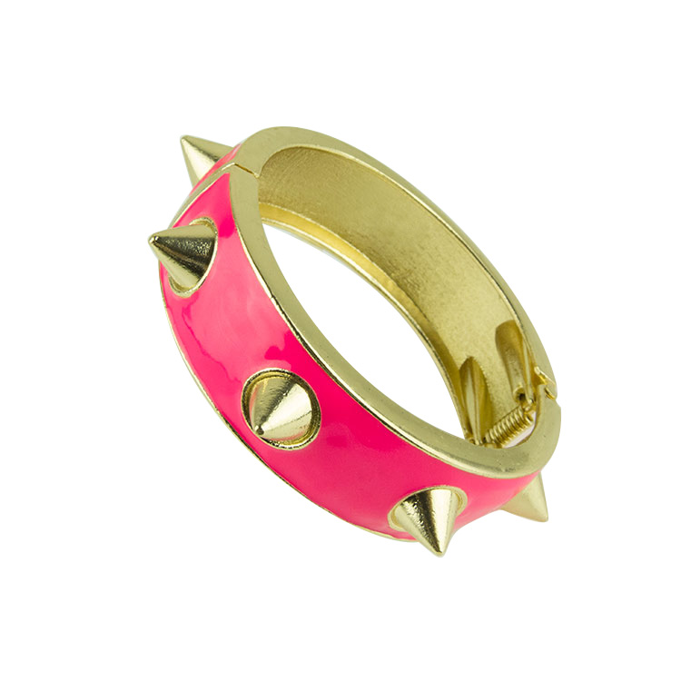 Free shipping Fashion hot-selling sz085 star metal rivet oil fashion alloy bracelet(China (Mainland))