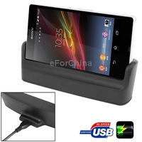 New Arrival 2 in 1 Data Sync /Mobile Phone Charger USB Desktop Cradle Docking Station for Sony Xperia Z Free Shipping