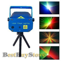 Free Shipping Voice Control mini Red and Green light laser stage light for Christmas & DJ Party & Christmas gift