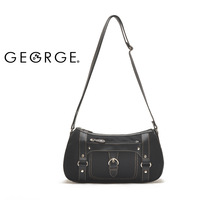 free shipping Mega Brand 2013 Hot in summer George classic black casual messenger bag stair women's handbag messenger bag