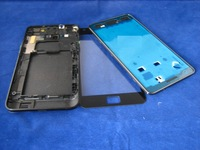 Full Cover Housing + Front Glass Screen for Samsung Galaxy S2 SII GT-i9100 i9100 Black