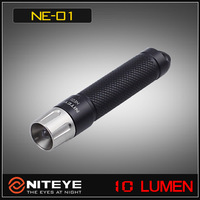 1PC NITEYE NE01 Flashlight Keychain LED Mini Flashlight 10 lumens Yellow Red Blue Pink Color Torch + Retail Box +  Free Shipping