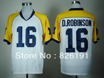 Free shipping Michigan Wolverines 16 Denard Robinson  jersey, Embroidery logos College football jerseys,Size 48-56.