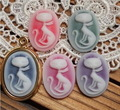 Free shipping 30*40mm 50pcs/lot environmently oval animal design crystal resin cameo,cute home flower decoration accessories