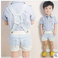 Wholesale children's overalls babys shorts  boys girls suspenders shorts baby jeans pants free shipping
