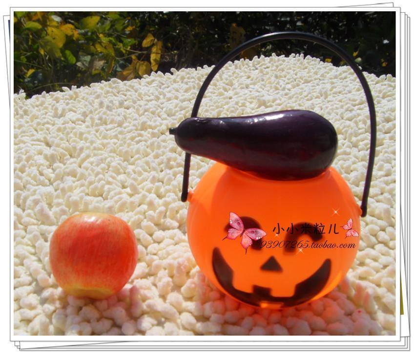 Halloween pumpkin bags pumpkin bucket non-woven bag pumpkin pattern candy bag pumpkin clothes(China (Mainland))