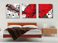 3Panels Free shipping hot sale Wall Hanging Combination Painting Decorative Art Picture Paint Canvas Print Abstract flower1039