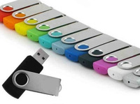 100pcs/lot Custom Twist USB Flash Drives Logo Silk imprint color Imprint Engraved Promote Gifts USB Sticks