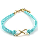 Lake blue Min.order is $6 (mix order)  Fashion Korea personality Eight bracelet bangle jewelry!Free shipping!