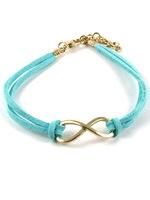 Lake blue Min.order is $6 (mix order)  Fashion Korea personality Eight bracelet bangle jewelry!Free shipping!