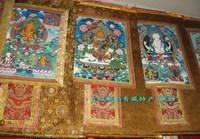 Of qingzang . beautiful buddha thangka mammographies thangka