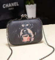 2013 dog bag unhide women's handbag chain bag shoulder bag day clutch evening bag small bag women's handbag