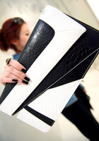 Fashion vintage briefcase 2012 stone pattern color block day clutch envelope bag one shoulder bag cross-body small clutch