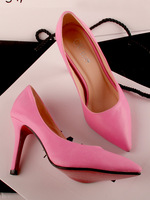 Super sexy ol nude color peach pink pointed toe high heels single shoes wedding shoes