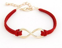 Min.order is $6 Red Fashion Korea personality Eight bracelet bangle jewelry!Free shipping!