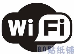 Wi fi laptop stickers car sticker computer stickers luggage waterproof stickers