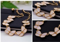 DY516  Vintage Sweater Collars Necklace Pendant ,Punky Chunky Flower Jewelry Made With Natural Shelf  For Women,2013 New Arrival