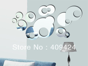 Free shipping! Best GIFT !Popular sofa tv mirror 3d wall stickers DIY mirror wall covering for bedroom and livingroom