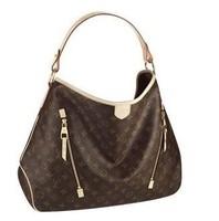 Free shipping Women's big bag Diraitofuru GM Brown M40354