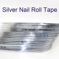 20 Silver Nail Roll Striping Tape Metallic yarn Line Nail Art Decoration Sticker Free Shipping